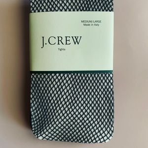 J. Crew Fishnet Tights Med/Lg NWT Made In Italy